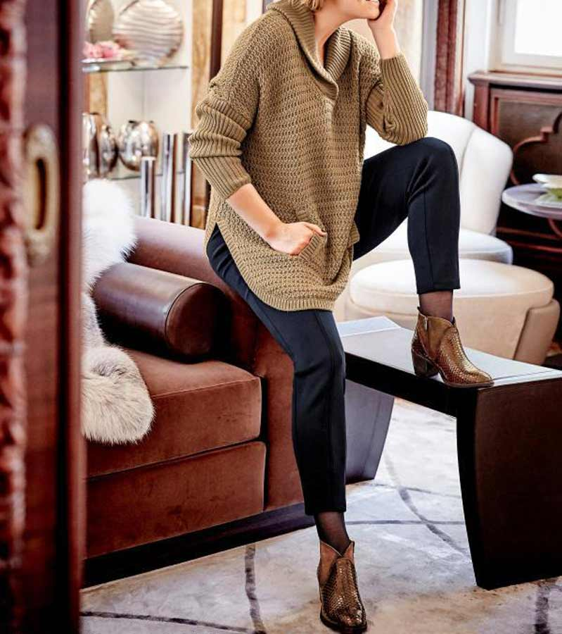 GUIDO MARIA KRETSCHMER Damen Designer-Ponchopullover Camel Cape Umhang Missforty