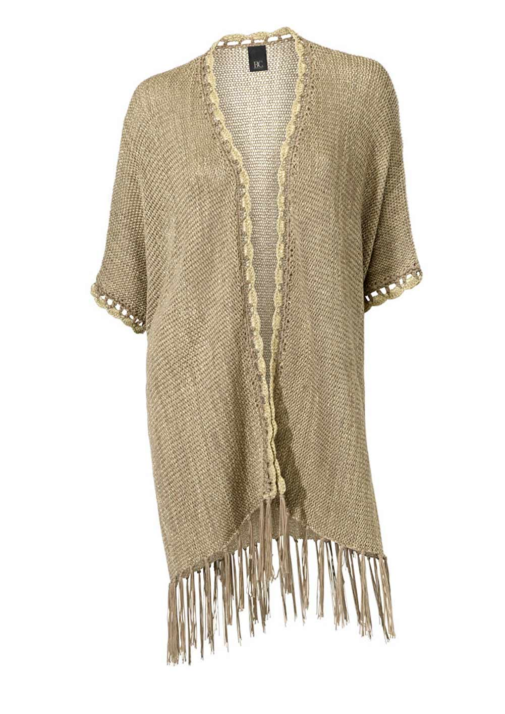 Heine - Best Connections Poncho taupe-gold 088.502 Missforty