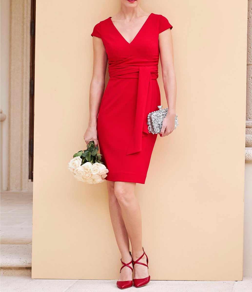 HEINE Damen Kleid Etuikleid, rot 360.175 Missforty