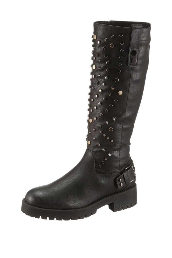xyxyx Stiefel mit Nieten schwarz 374.368 Missforty