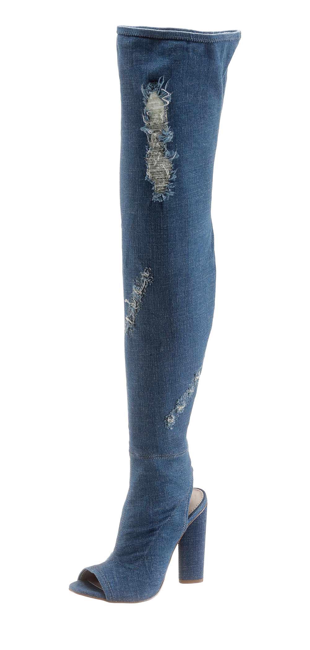 STEVE MADDEN Overknee-Stiefel jeansblau 658.734 Missforty