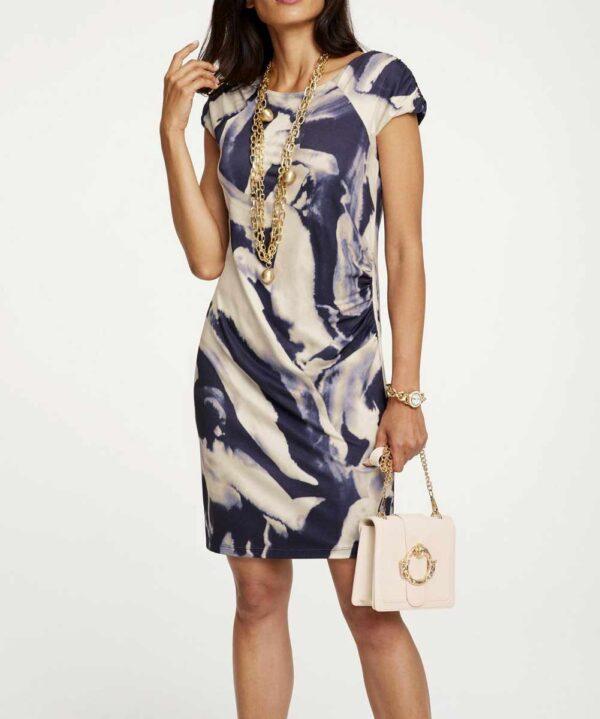 Ashley Brooke Damen Kleid Etuikleid Druckkleid bunt Missforty