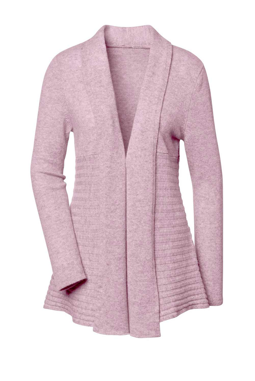 694.118 Création L Premium Strickjacke Kaschmir rosé melange