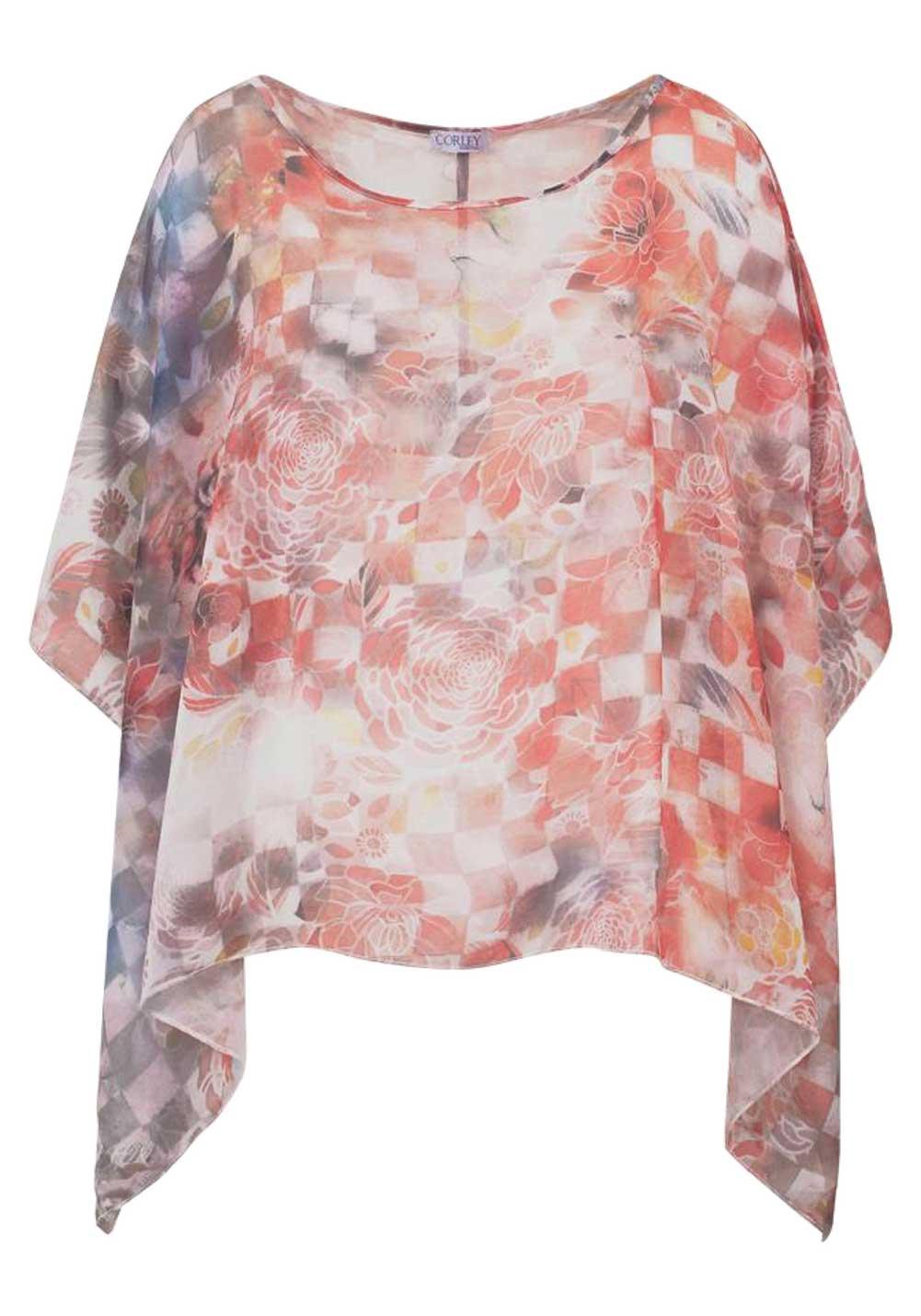 CORLEY Poncho Bluse bunt 723.003 Missforty