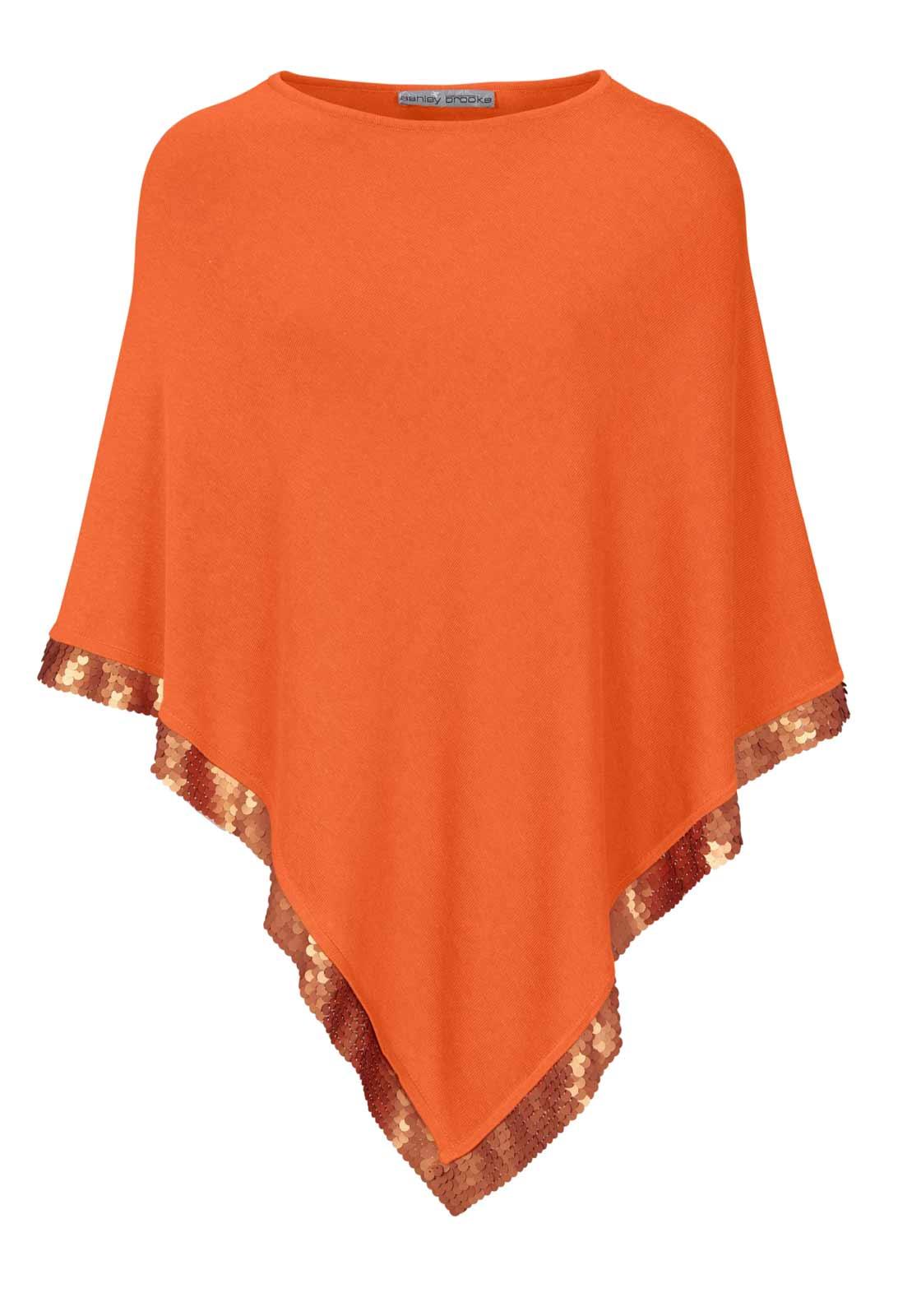 Ashley Brooke Poncho orange 998.384 Missforty