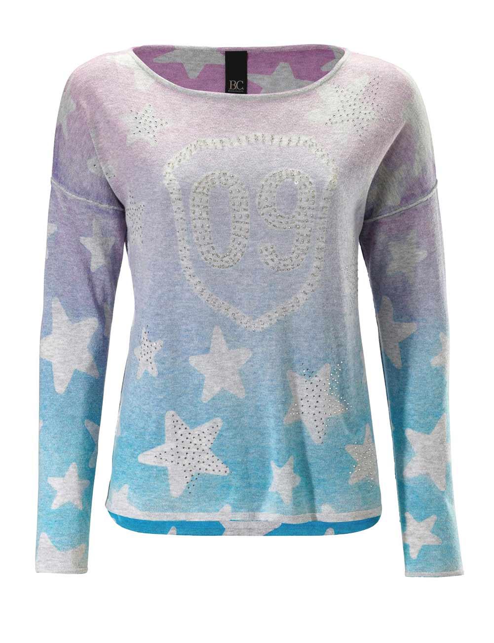 Heine - Best Connections Strickpullover Damen pink-blau 040.703 Missforty Online Shop