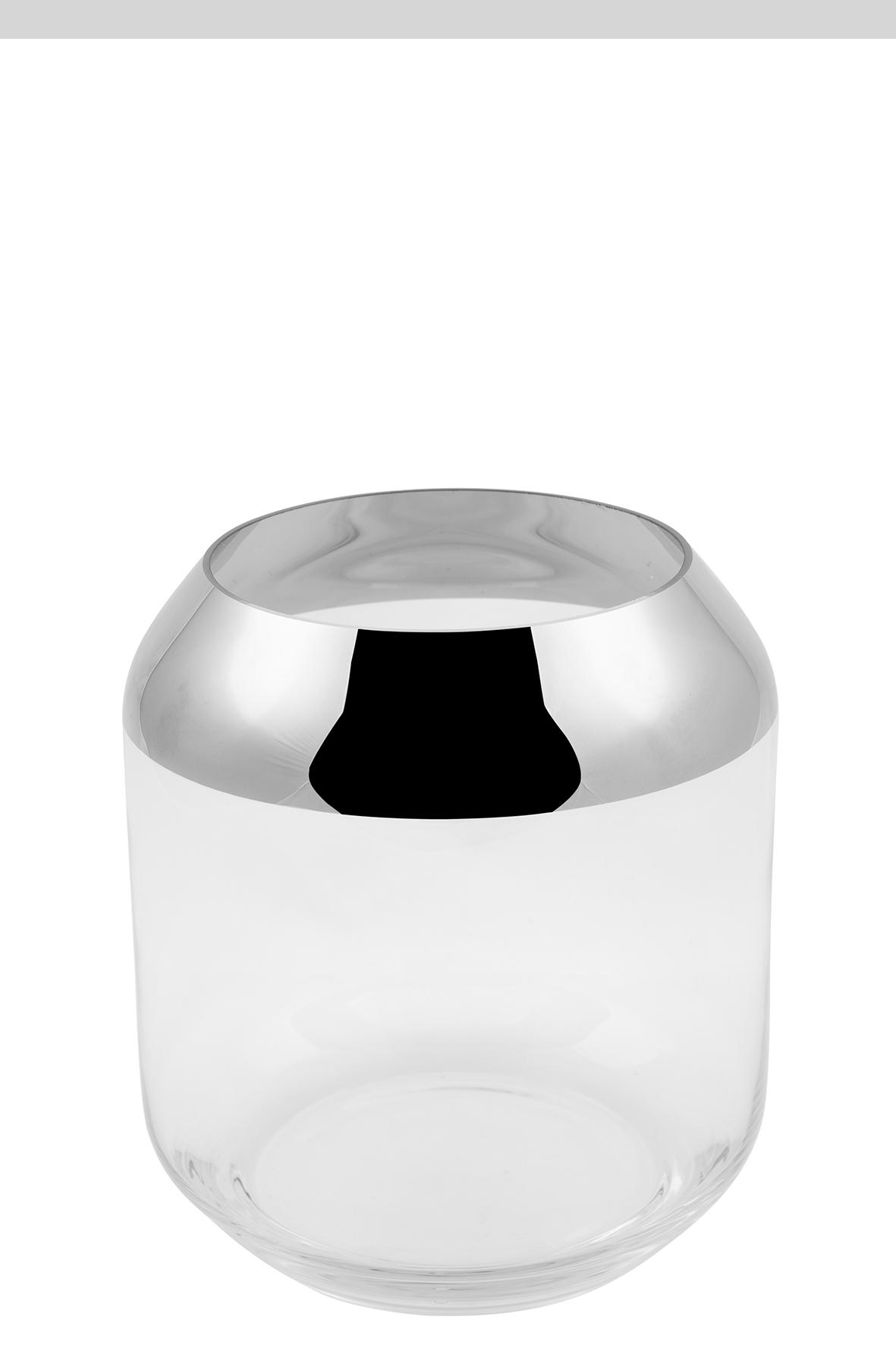 000000012465 Teelichthalter Glas silber Windlicht Teelicht Vase SMILLA von Fink