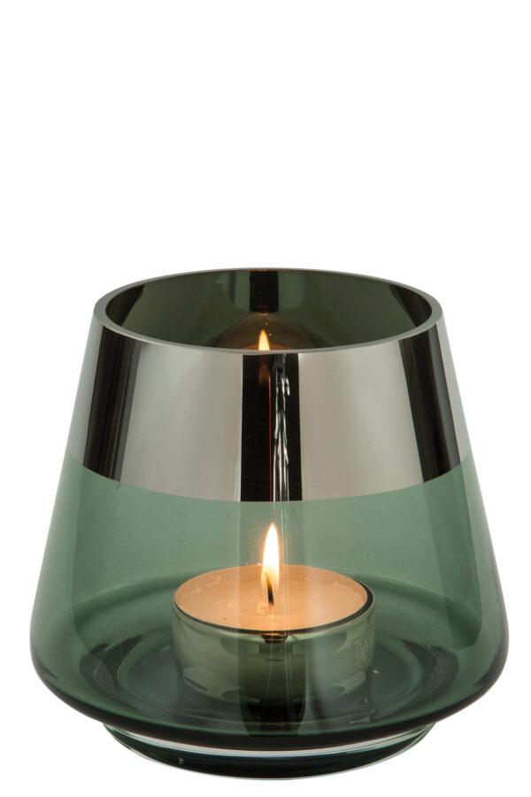 000000012506 Teelichthalter aus Glas Deko Kerzenständer Windlicht Teelicht JONA von Fink