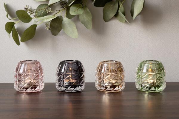 000000012546 Teelichthalter aus Glas Kerzenhalter Teelicht modern Bunt GLOSSY von Fink