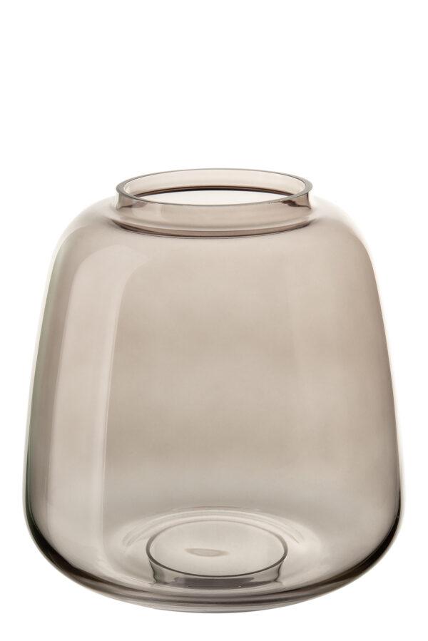 000000012436 Vase Glas Glasvase Fink SUNDAY Dekovase Tischdeko grau Höhe 11 / 15,5 / 19 cm