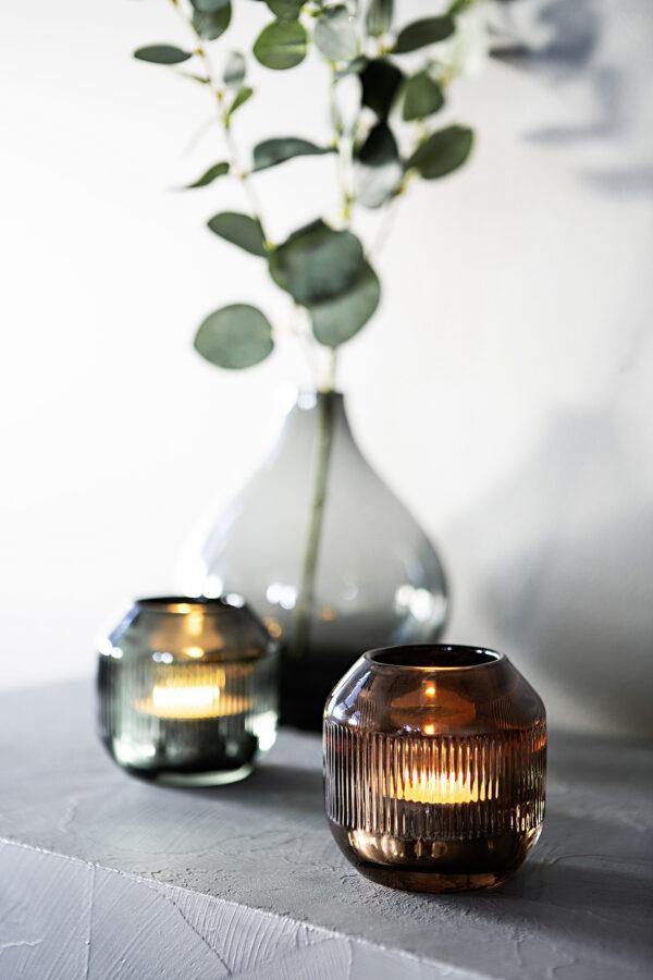 000000012547 Teelichthalter Glas Kerzenhalter Teelicht modern CASSIO von Fink
