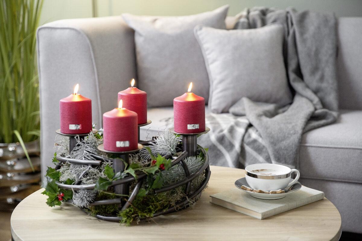 145057 Adventskranz Weihnachtskranz Dekokranz Edehlstahl CORONA Leuchter bronze Fink