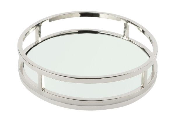 000000012549 Tablett Spiegel Silber Spiegeltablett rund Deko MODENA von Fink