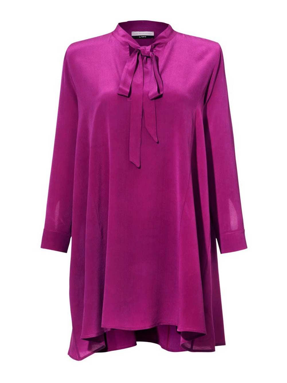 Langarmbluse Elegante Bluse Damen Lang Pink von Guido Maria Kretschmer Missforty