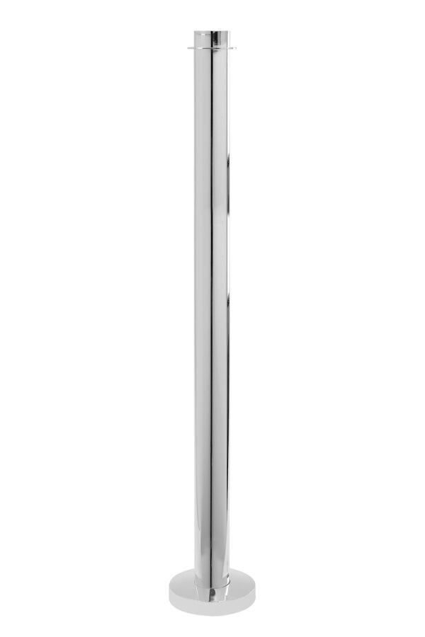 000000012451 Kerzenleuchter für Titankerzen Kerzenhalter silber Bodenleuchter TITAN von Fink