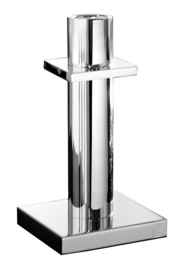 000000012453 Kerzenhalter modern Kerzenleuchter silber Leuchter Stabkerze MEMPHIS von Fink