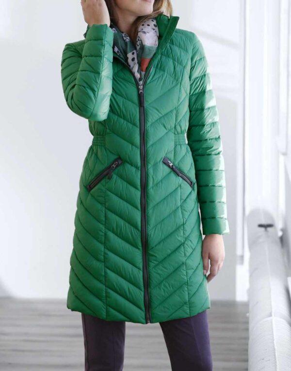 Damenmäntel Frühjahr 2021 Linea Tesini Steppmantel Wintermantel gesteppt, smaragd 196.209 Missforty