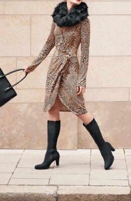 HEINE Jerseykleid, leo-bedruckt missforty