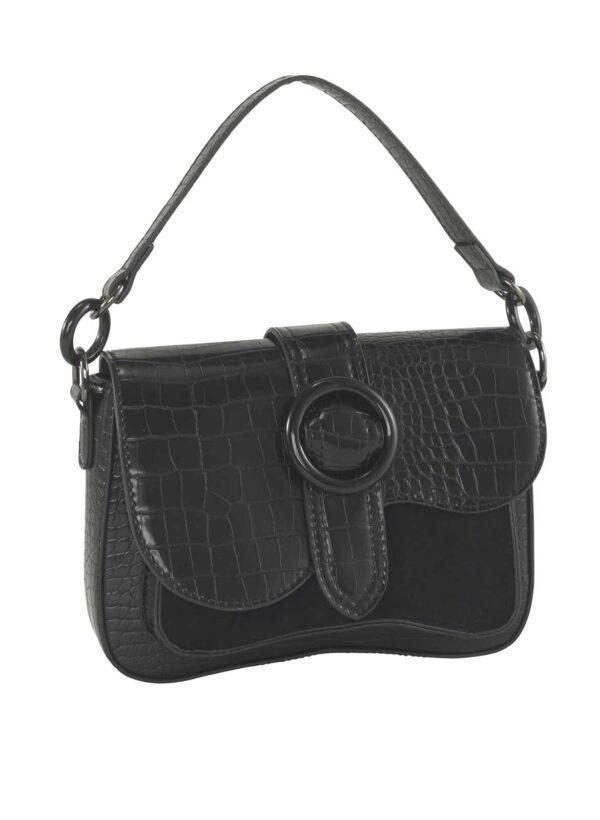 636.319 HEINE Tasche in Kroko-Optik, schwarz