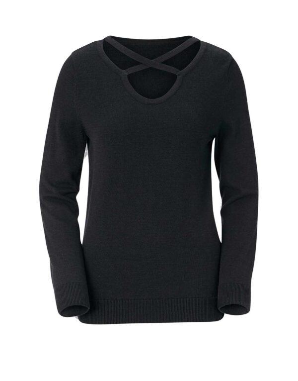 693.154 Feinstrickpullover Damen Strickpullover warm schwarz von Création