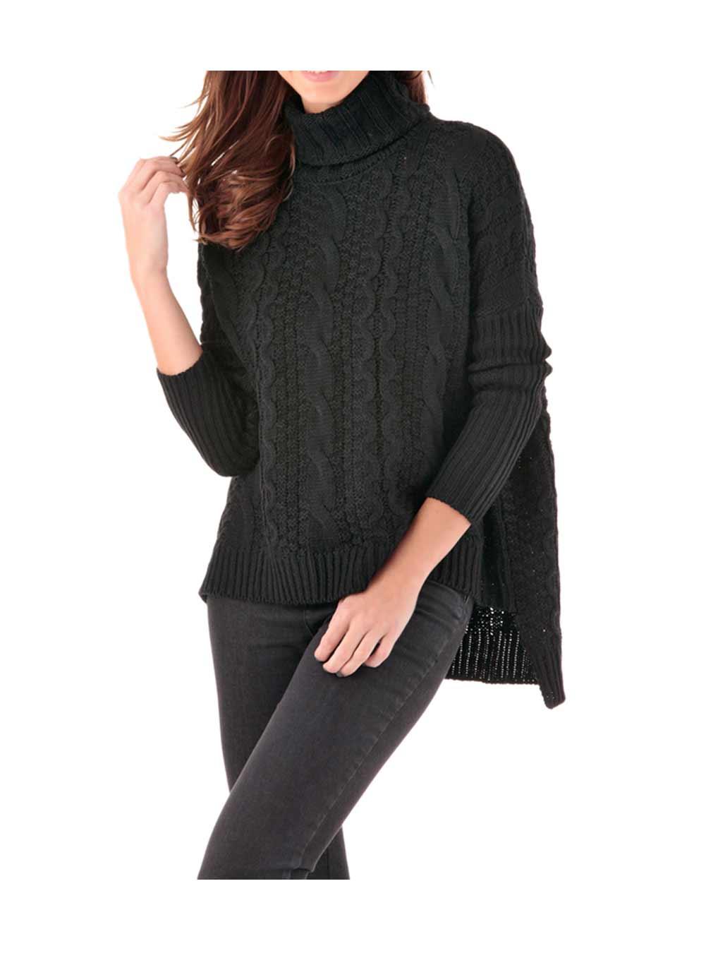 Tamaris Strickpullover Damen schwarz 877.684 Missforty Online Shop
